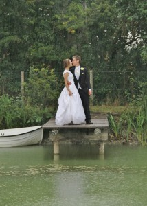 Kissing in the rain on the jetty small