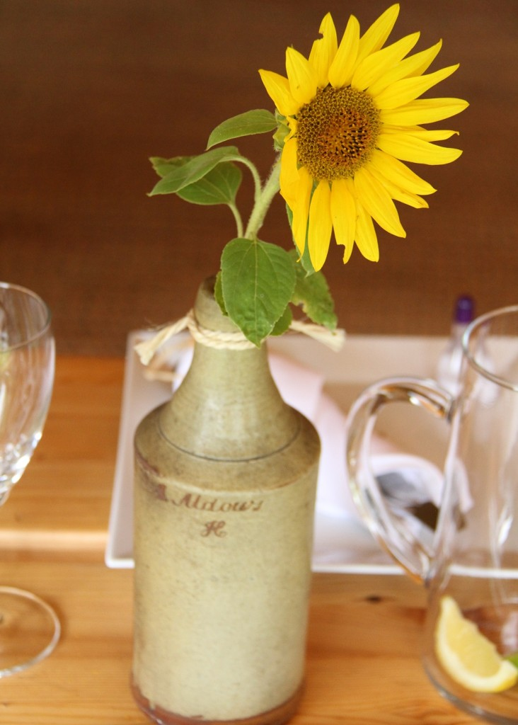 Old beer bottles make great vases small