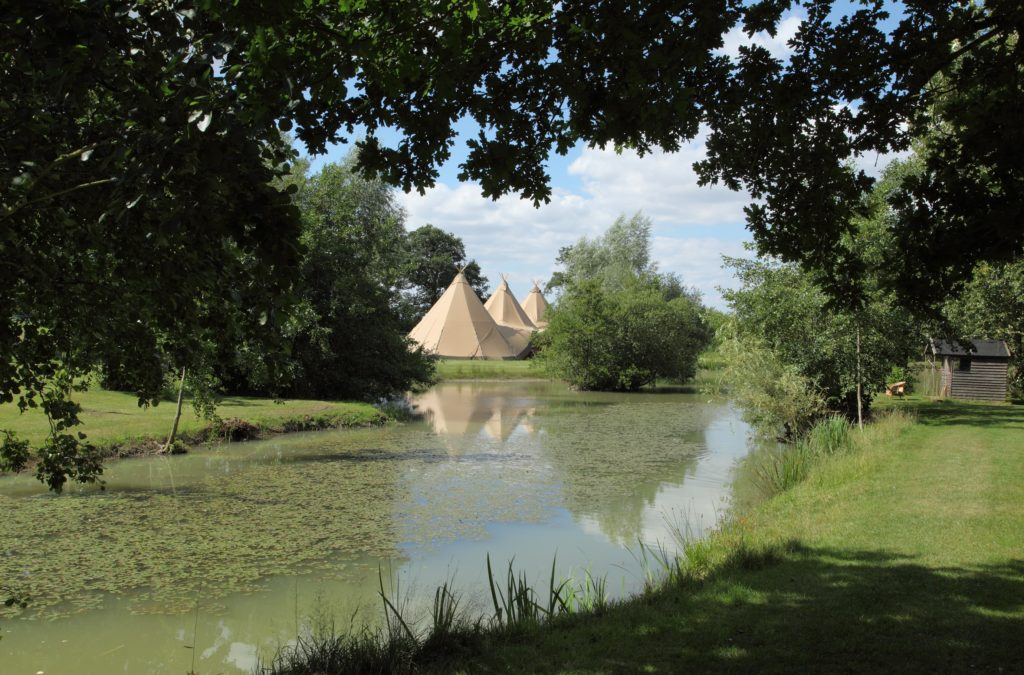 Tipi view from the lake