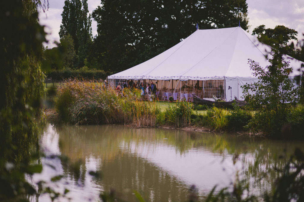marquee by lake